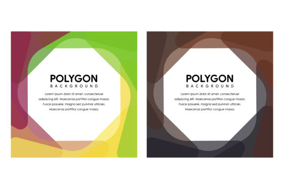 Polygon Square Banner Graphic By noory.shopper