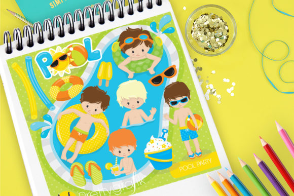 Print on Demand: Pool Party Graphic Illustrations By Prettygrafik