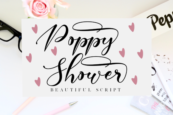 Print on Demand: Poppy Shower Script & Handwritten Font By NissaStudio