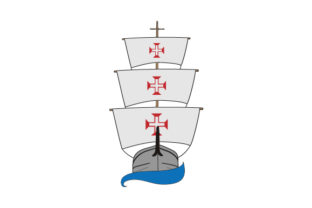 Portuguese Ships with Flag Craft Design By Creative Fabrica Crafts