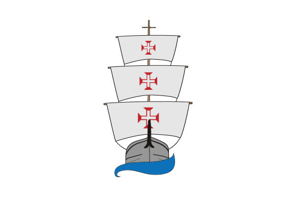 Download Free Portuguese Ships With Flag Svg Cut File By Creative Fabrica for Cricut Explore, Silhouette and other cutting machines.
