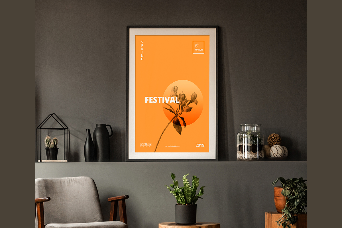Download Free Posters Frames Mockups Psd Graphic By Pakpahanmarg Creative for Cricut Explore, Silhouette and other cutting machines.