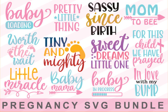 Print on Demand: Pregnancy SVG Bundle Graphic Print Templates By svgbundle.net