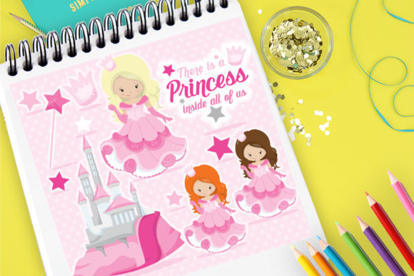 Print on Demand: Princesses Graphic Illustrations By Prettygrafik