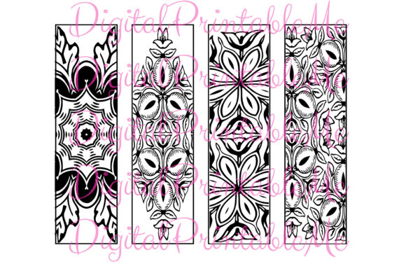 Printable Bookmark Coloring Page Mandala