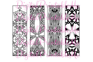 Download Free Printable Bookmark Coloring Page Mandala Graphic By for Cricut Explore, Silhouette and other cutting machines.