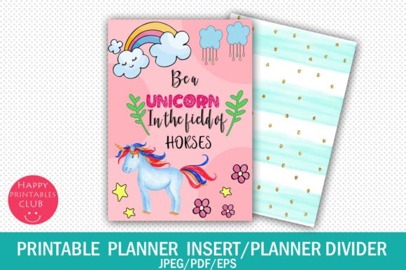 Print on Demand: Printable Planner Insert-Planner Divider Graphic Crafts By Happy Printables Club