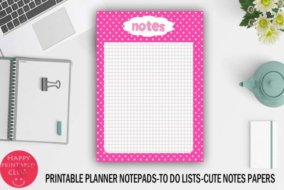 Print on Demand: Printable Planner Notepads-Notes Paper Graphic Crafts By Happy Printables Club - Image 2