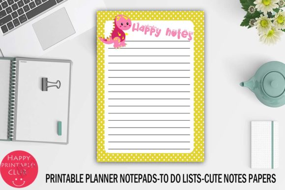Print on Demand: Printable Planner Notepads-to Do Lists Graphic Crafts By Happy Printables Club - Image 2