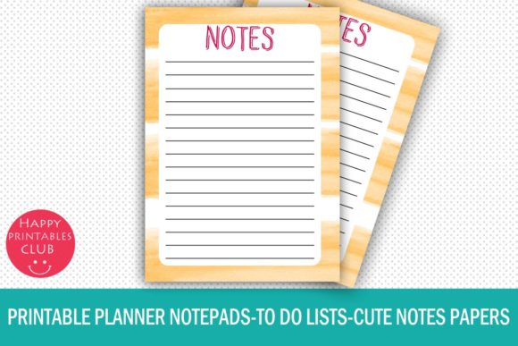 Download Free Printable Planner Notepads To Do Lists Graphic By Happy Printables Club Creative Fabrica for Cricut Explore, Silhouette and other cutting machines.