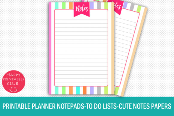 picture about Printable Lists titled Printable Planner Notepads-toward Do Lists