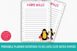 Printable Planner Notepads-to Do Lists Graphic Crafts By Happy Printables Club