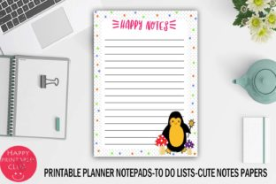 Printable Planner Notepads-to Do Lists Graphic Crafts By Happy Printables Club 2