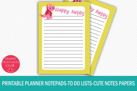 Print on Demand: Printable Planner Notepads-to Do Lists Graphic Crafts By Happy Printables Club