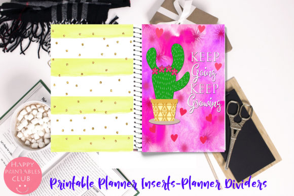 Print on Demand: Printable Planner Quotes-Inserts-Divider Graphic Crafts By Happy Printables Club - Image 2
