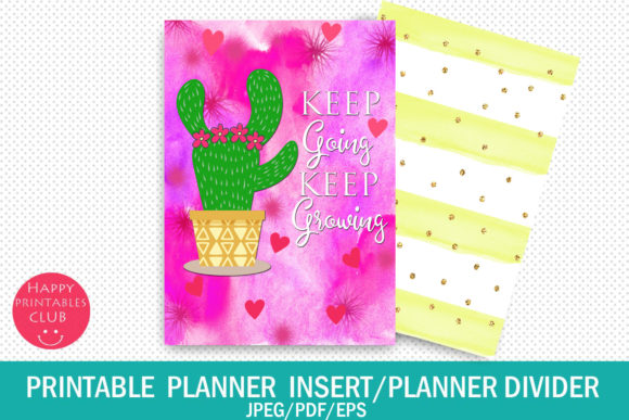 Print on Demand: Printable Planner Quotes-Inserts-Divider Graphic Crafts By Happy Printables Club - Image 1