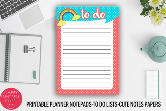 Download Free Printable To Do Lists Notes Papers Sheet Graphic By Happy for Cricut Explore, Silhouette and other cutting machines.