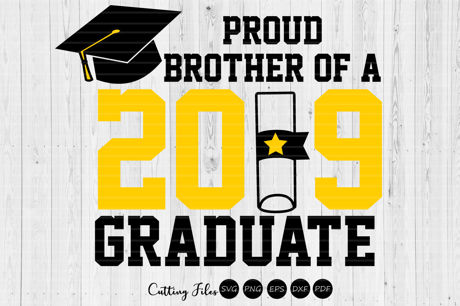 Download Free Proud Brother Of A Graduate Graduation Graphic By Hd Art for Cricut Explore, Silhouette and other cutting machines.
