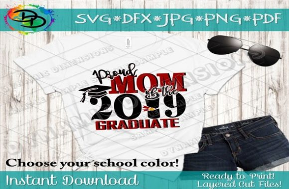 Download Free Proud Mom Of The Grad Svg Graduate Svg Graphic By for Cricut Explore, Silhouette and other cutting machines.