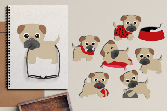 Print on Demand: Pugs Graphic Illustrations By Revidevi