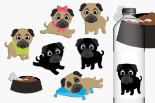 Pugs Graphic By Revidevi