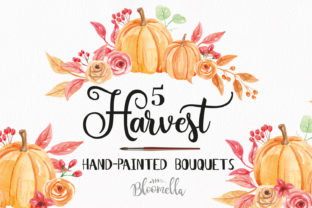 Pumpkins Bouquet Arrangement Watercolor Graphic By Bloomella