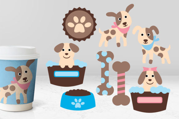 Print on Demand: Puppy Dogs Graphic Illustrations By Revidevi
