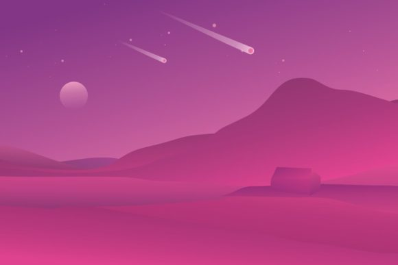 Purple Silent Mountain Background Graphic By RbkArt