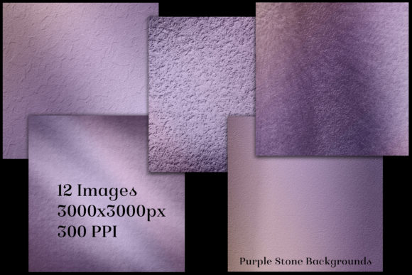 Print on Demand: Purple Stone Backgrounds - 12 Images Graphic Backgrounds By SapphireXDesigns - Image 2