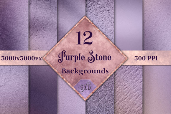 Print on Demand: Purple Stone Backgrounds - 12 Images Graphic Backgrounds By SapphireXDesigns - Image 1