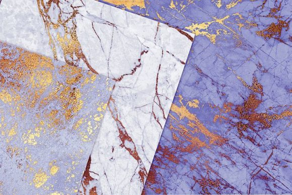 Purple and Gold Marble Textures Graphic By artisssticcc Image 2