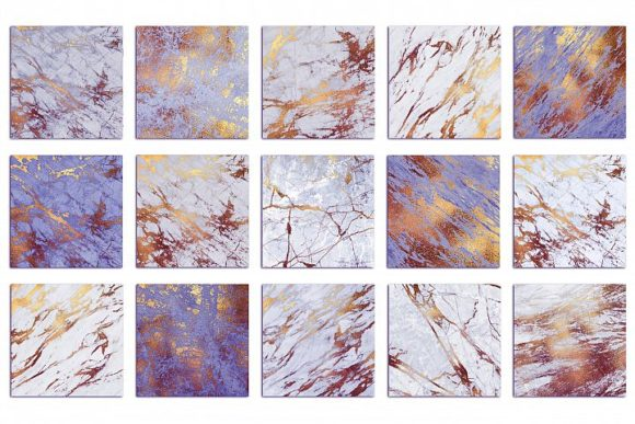 Purple and Gold Marble Textures Graphic By artisssticcc Image 3