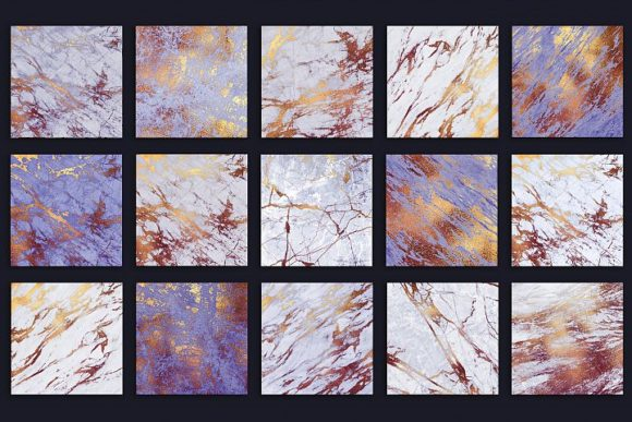 Purple and Gold Marble Textures Graphic By artisssticcc Image 4