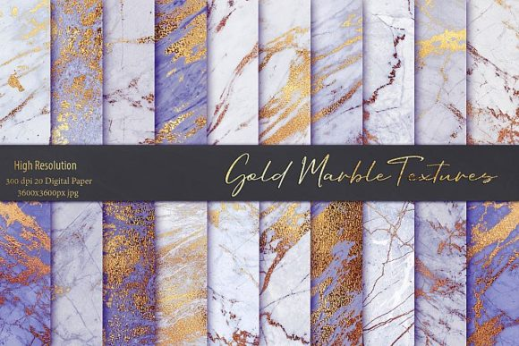Purple and Gold Marble Textures Graphic By artisssticcc