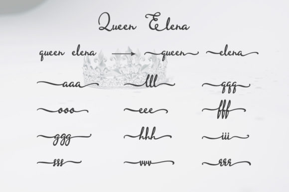 Queen Elena Font By LetterBeary Image 6
