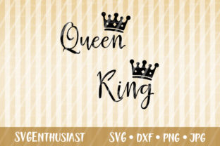Queen King Cut File Graphic By Svgenthusiast Creative Fabrica