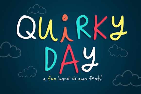Print on Demand: Quirky Day Manuscrita Fuente Por Reg Silva Art Shop