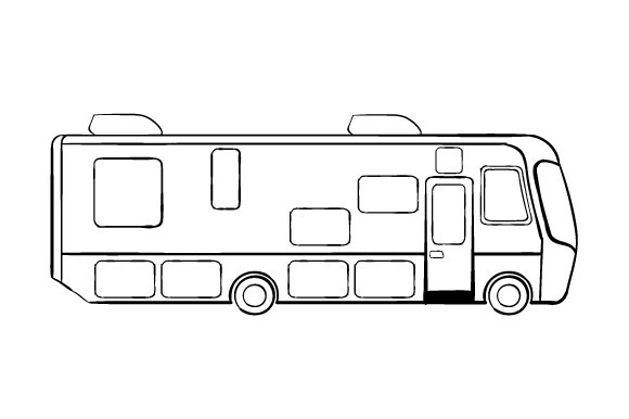 Download Free Rv Line Art Drawing Svg Cut File By Creative Fabrica Crafts for Cricut Explore, Silhouette and other cutting machines.