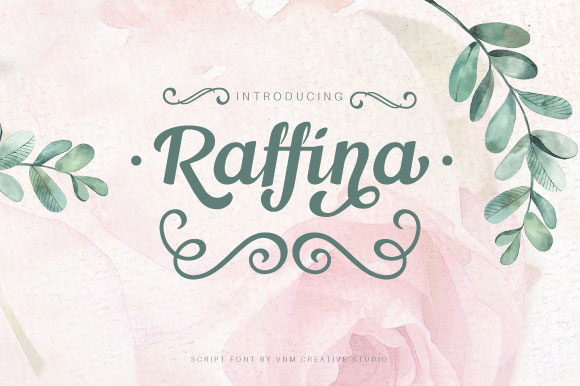 Print on Demand: Raffina Manuscrita Fuente Por VNM Creative Studio