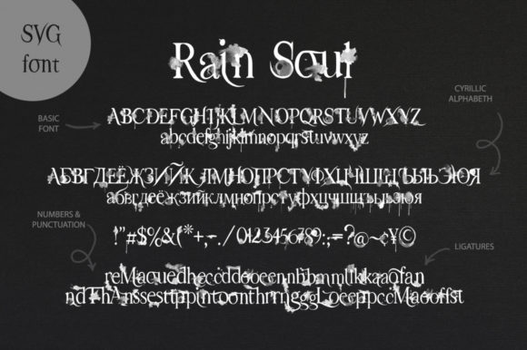 Print on Demand: Rain Soul Decorative Font By Red Ink - Image 13