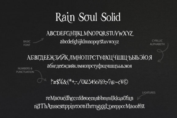 Print on Demand: Rain Soul Decorative Font By Red Ink - Image 14