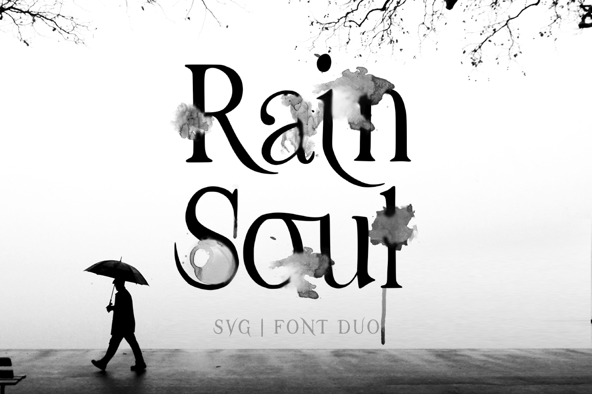 Download Free Rain Soul Font By Red Ink Creative Fabrica for Cricut Explore, Silhouette and other cutting machines.