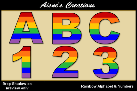 Print on Demand: Rainbow Alphabet & Numbers Graphic Illustrations By Aisne
