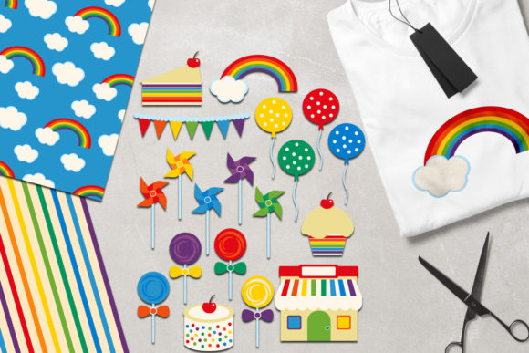 Print on Demand: Rainbow Party Graphic Illustrations By Revidevi