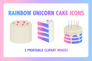 Download Free Rainbow Unicorn Cake Graphic By Mine Eyes Design Creative Fabrica for Cricut Explore, Silhouette and other cutting machines.
