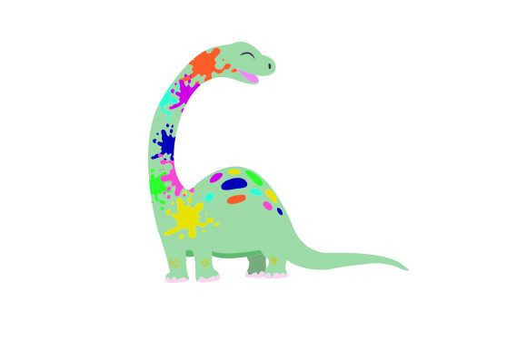 Download Free Rainbow Colored Dinosaur Svg Cut File By Creative Fabrica Crafts for Cricut Explore, Silhouette and other cutting machines.