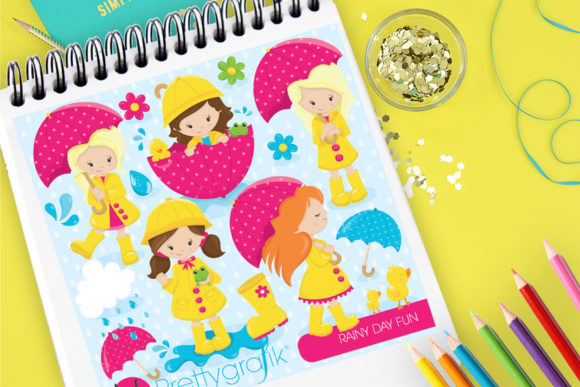 Print on Demand: Rainy Day Fun Graphic Illustrations By Prettygrafik