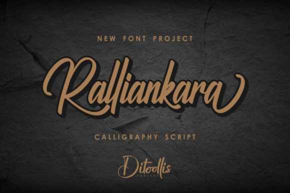 Print on Demand: Ralliankara Script & Handwritten Font By Ditoollis Project