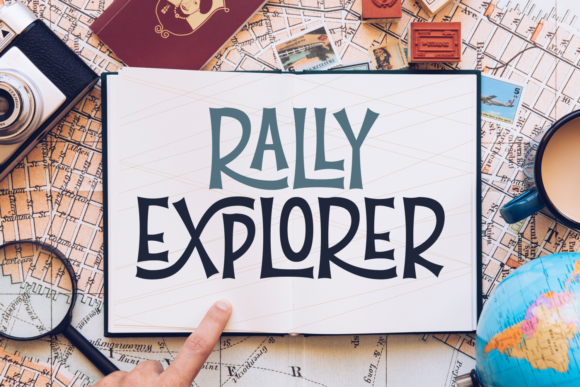 Print on Demand: Rally Explorer Display Font By Situjuh - Image 1