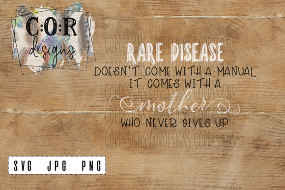 Print on Demand: Rare Disease SVG - PNG - JPG Graphic Crafts By designscor